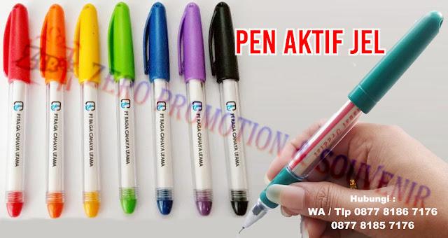 Jual Pulpen Gel Promosi, PEN AKTIF JEL, Pen Aktif Gel Pen Promosi Insert Paper