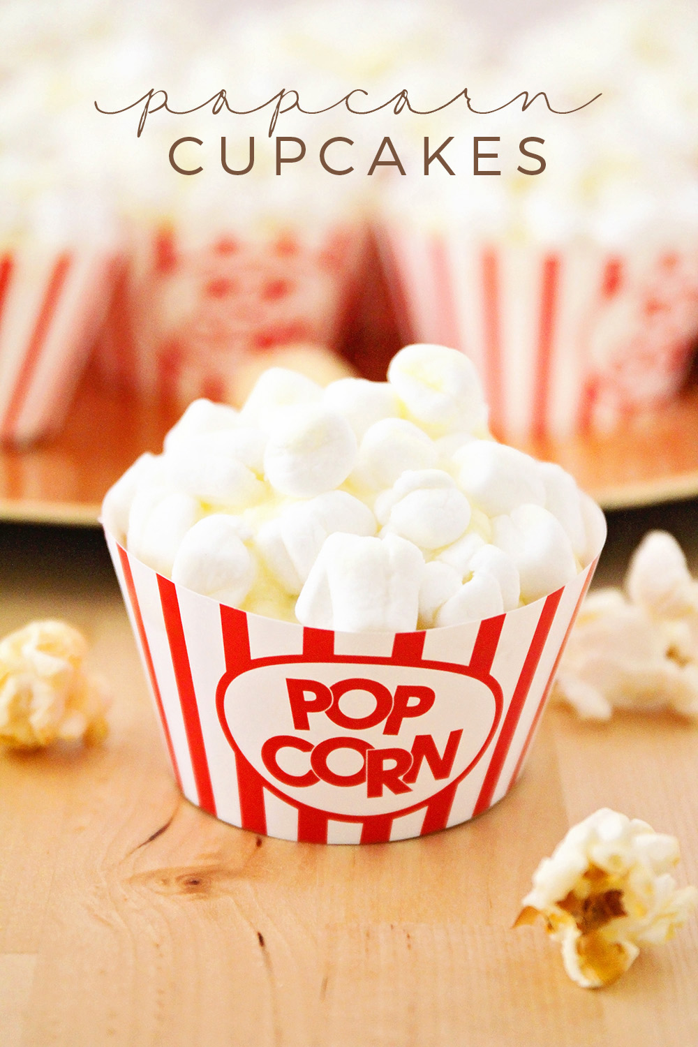 These popcorn cupcakes are so adorable and fun, and so easy to make!