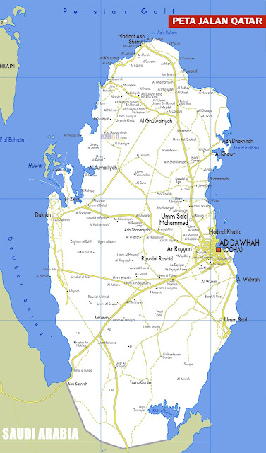 Gambar Peta Jalan Qatar