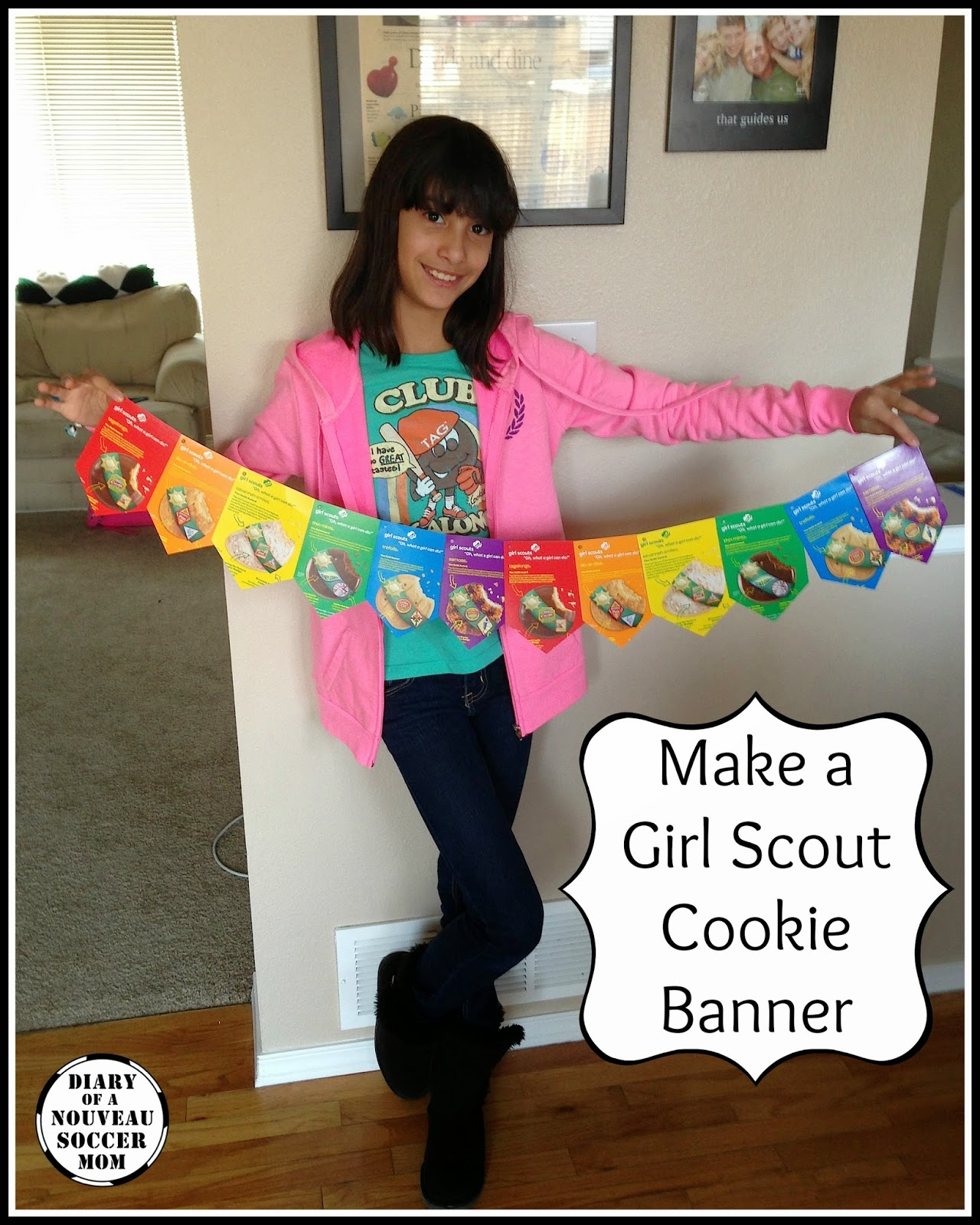 Make Easy Girl Scout Cookie Booth Banners