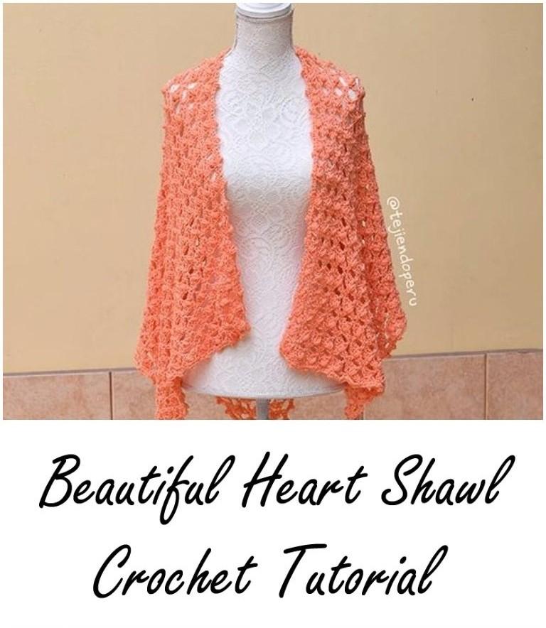 ergahandmade: Crochet Heart Shawl + Video Tutorial