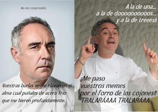 Estoy segura de que Ferran Adrià no se habrá sentido ofendido por nuestros memes. La pastuki es muy zen.