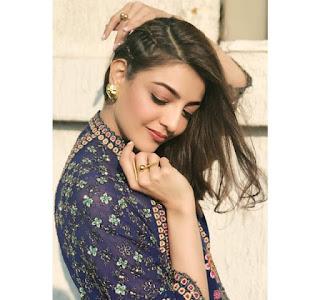 Kajal Agarwal Beautiful Photos In Blue Dress