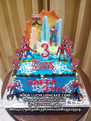 Kue Tart Ulang Tahun Anak Cowok Tema Spiderman