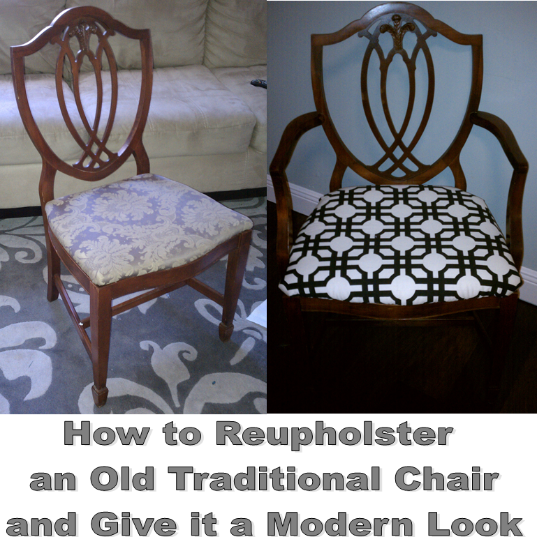 Nadia's DIY Projects: How To Reupholster An Old
