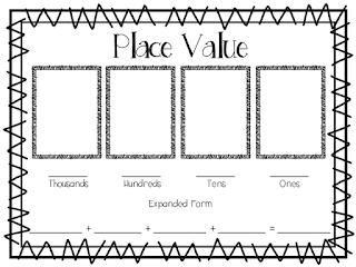 The Elementary Darling: Place Value Mat