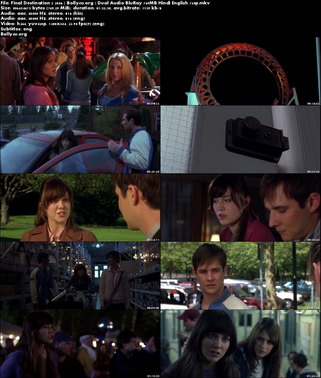 Final Destination 3 2006 BluRay 300MB Hindi Dual Audio 480p Download