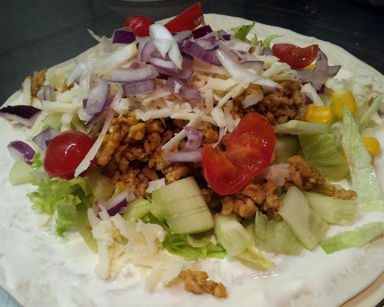 tacos på kycklingfärs