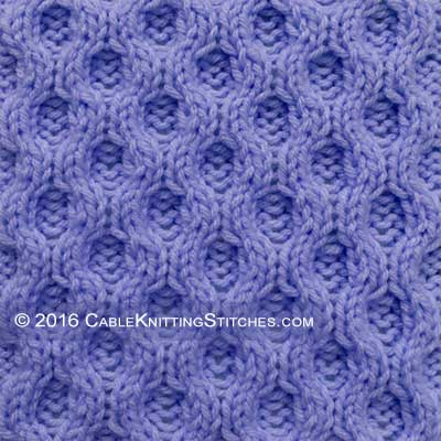 Cable Knitting Stitches » Reversible Honeycomb. Pattern looks identical on both sides.