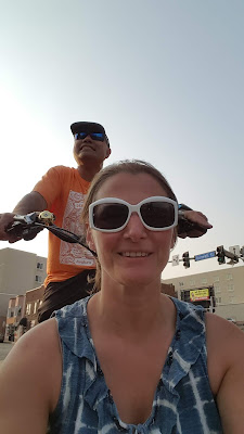 Cargo bike riding on our third date