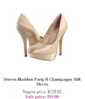 Steven Madden Party R Champagne Silk Shoes