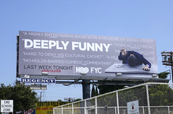 John Oliver Deeply Funny season 5 Emmy FYC billboard