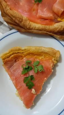 Quiche au saumon fumé ;Quiche au saumon fumé