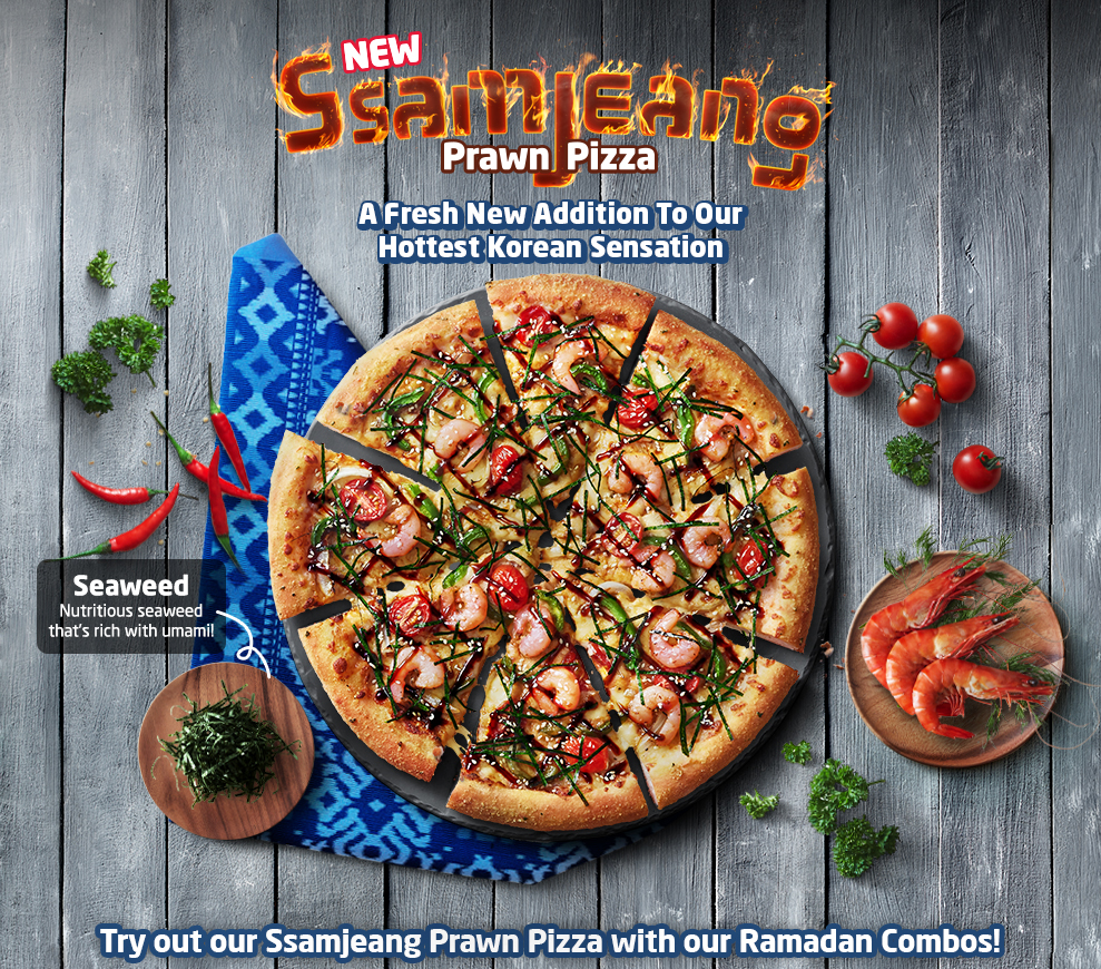 Ssamjeang Prawn Pizza By Dominos Pizza Malaysia
