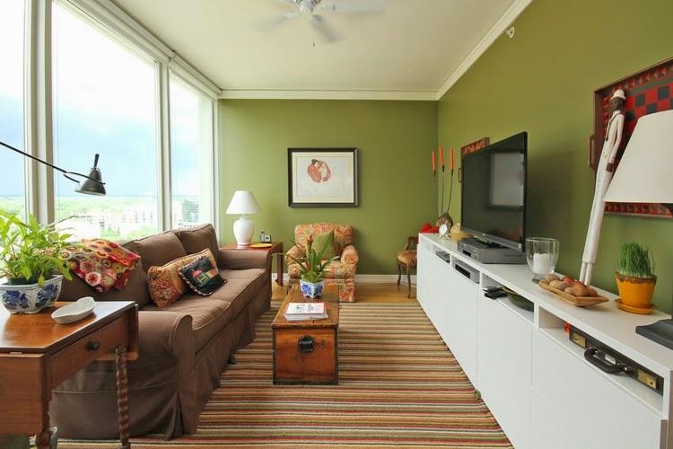 sala acentos verdes