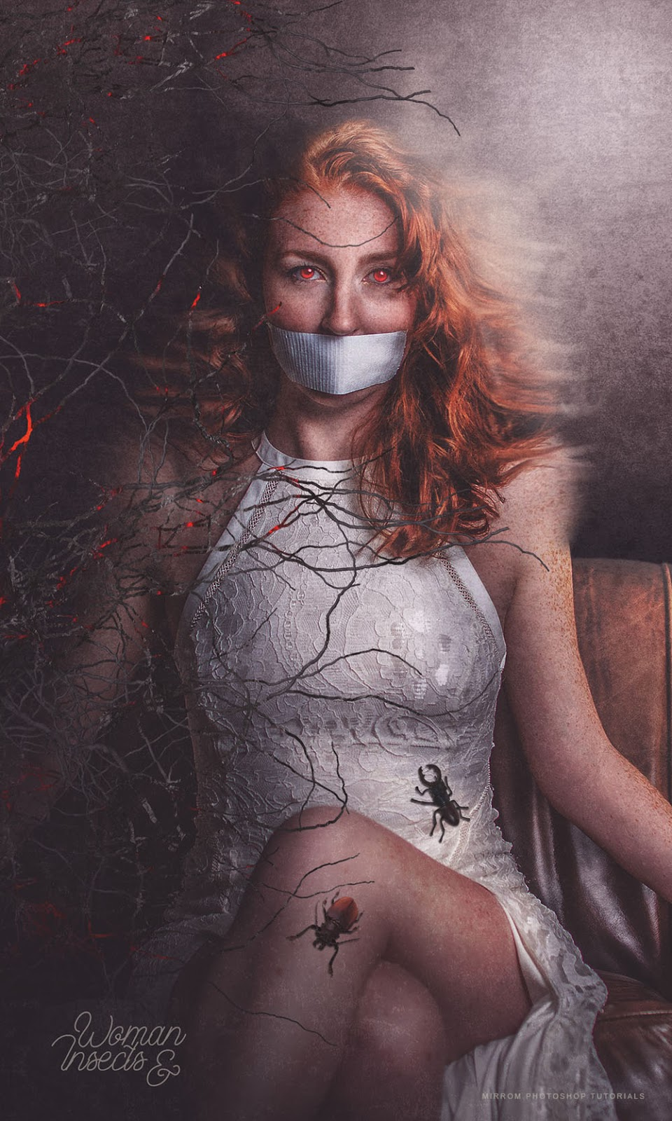 Create a Woman and Insects Digital Art Photo Manipulation in Photoshop CC