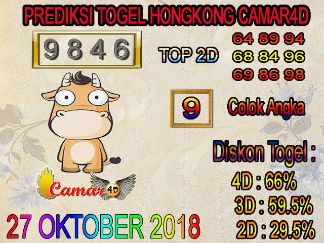Prediksi Togel Hongkong 27 Oktober 2018