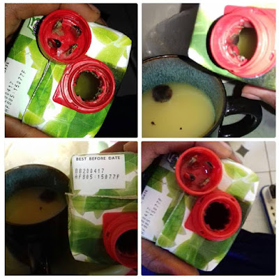 Shame! See what a friend found inside a yet-to-expire Five Alive fruit juice (photo)