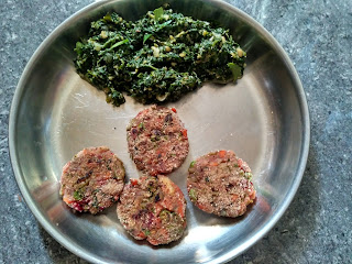 Tawa fried Veg cutlet, Blacknightshade greens kootu