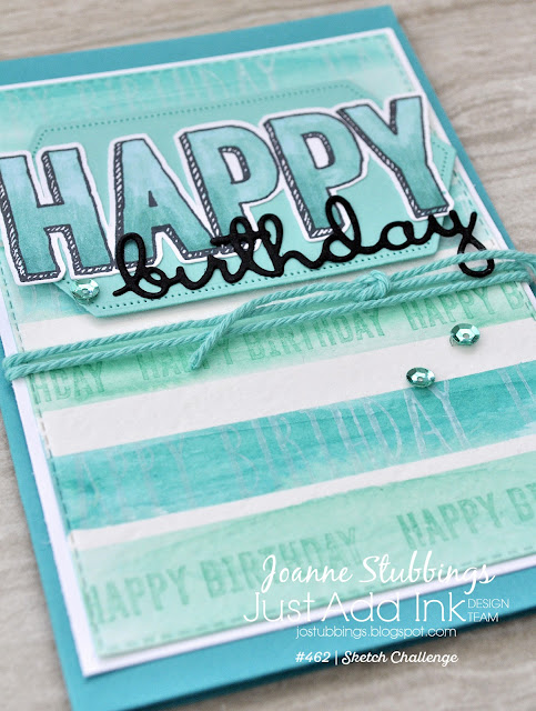 Jo's Stamping Spot - Just Add Ink Challenge #462 using Well Said bundle and Itty Bitty Birthdays Stamp Set by Stampin' Up!