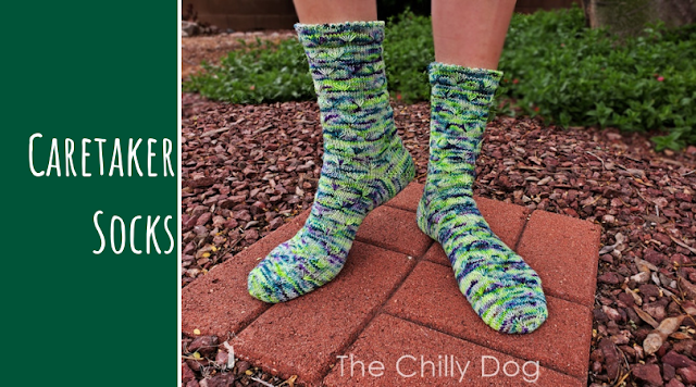 Caretaker Socks: toe-up sock knitting pattern with a picot edge and stitch by stitch hem