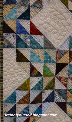 Pebble quilting on muslin