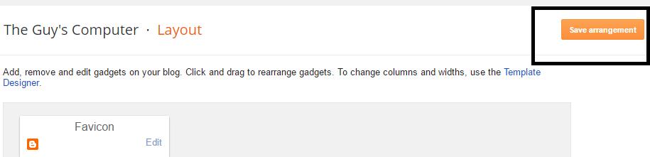 saving widget arrangement