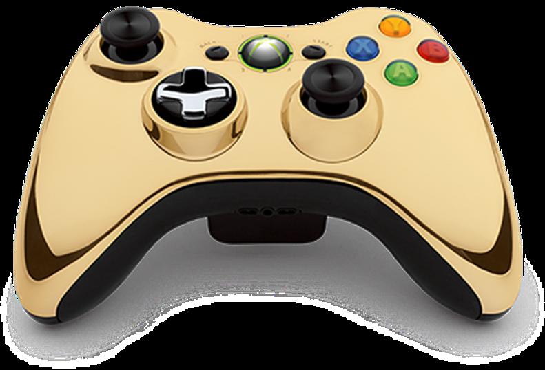 xbox 360 controller gold - photo #1