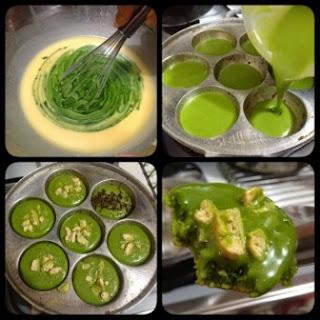 Resep kue cubit greentea