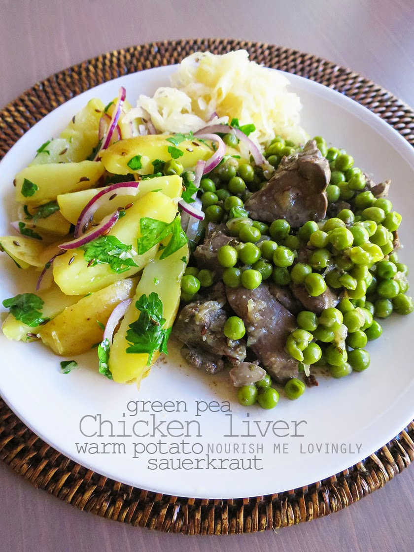 green pea chicken liver
