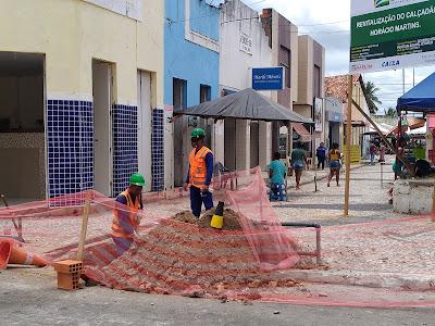 Em Maruim, Prefeitura inicia revitalização do Calçadão Horácio Martins