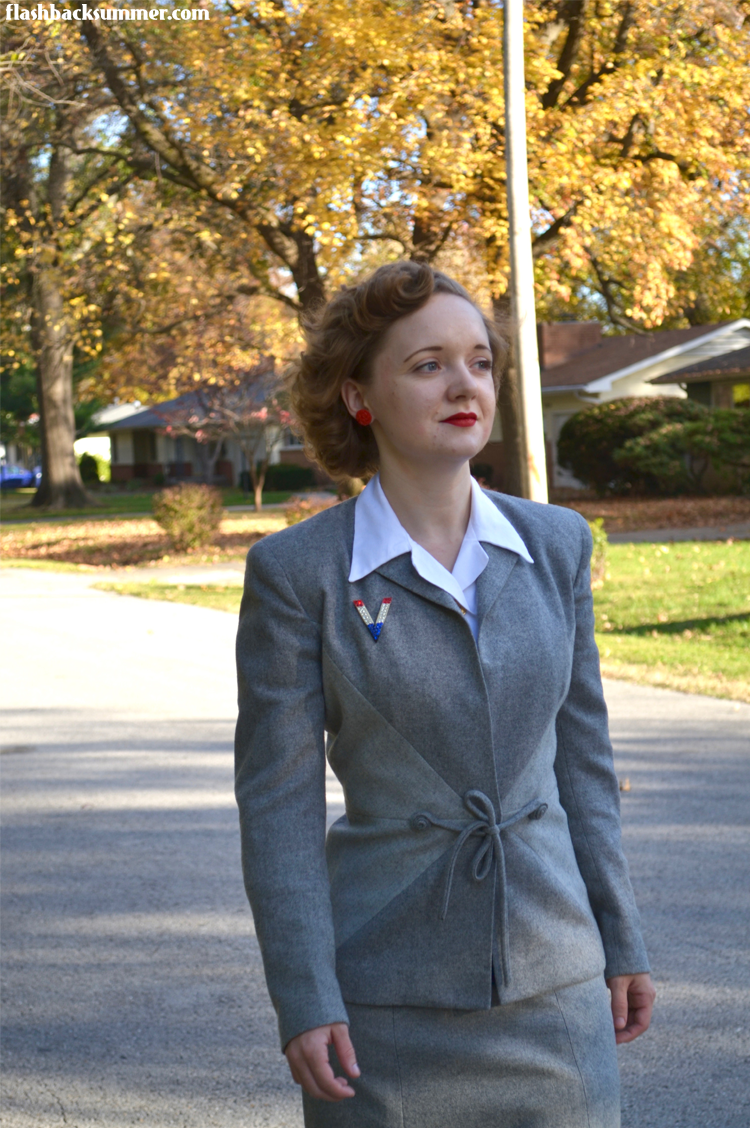 Flashback Summer: 1940s Victory Suit - Veterans Day outfit