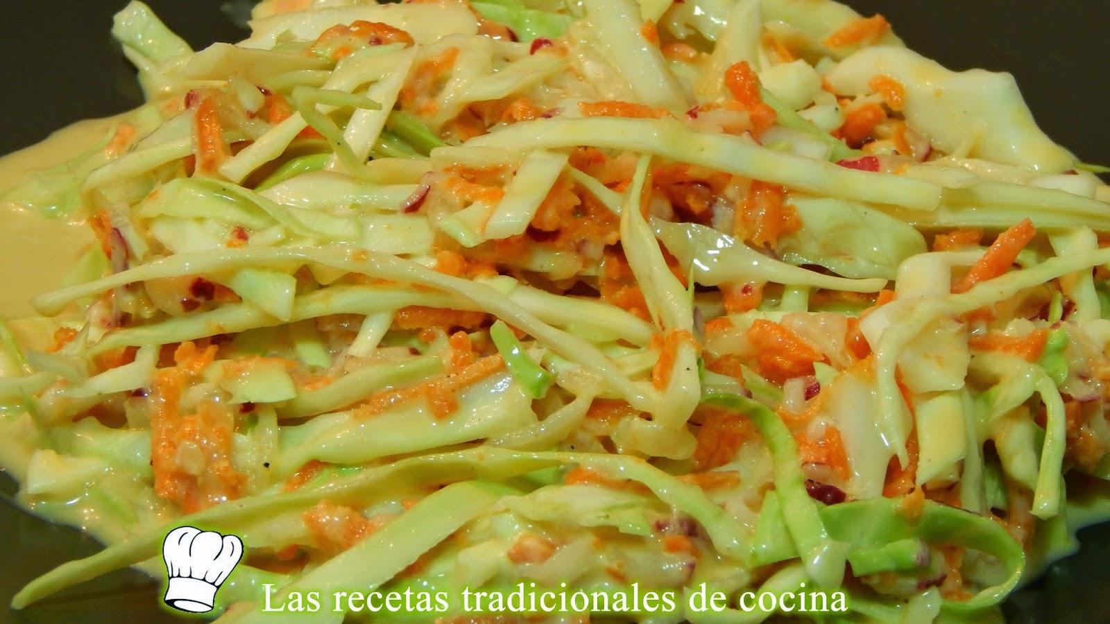 Receta f cil de ensalada agridulce de repollo y zanahorias for Como se cocina la col