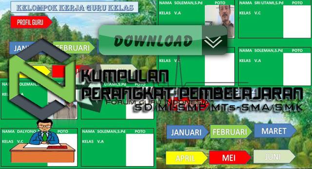 Aplikasi Administrasi KKG Excel Full Version