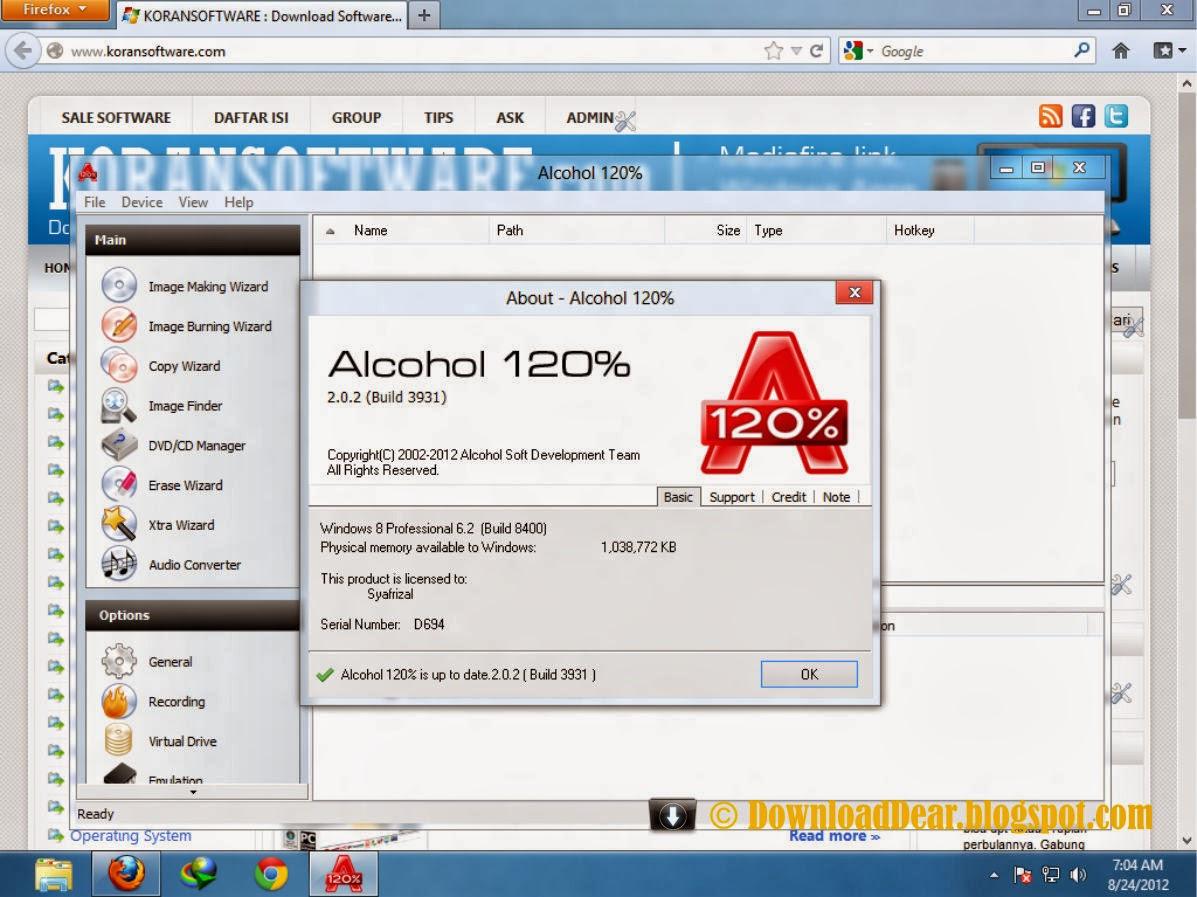 alcohol 120 crack free download