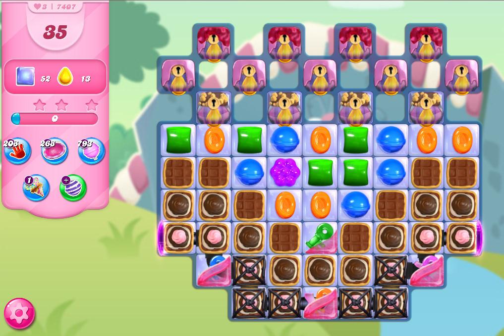 Candy Crush Saga level 7407