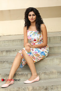 Actress Shamili Stills in Floral Short Dress at Sree Ramaraksha Song Launch 0152