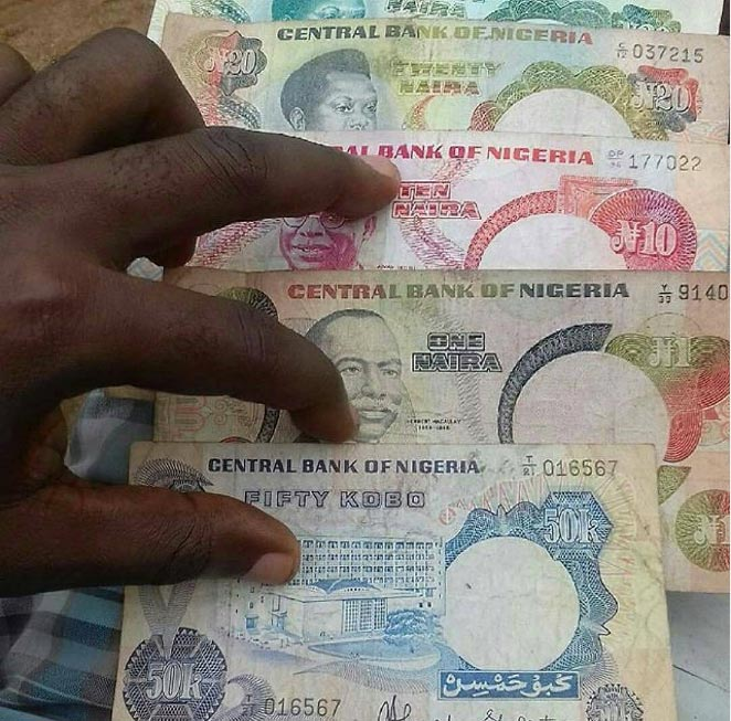 Throwback to some old Nigerian naira notes