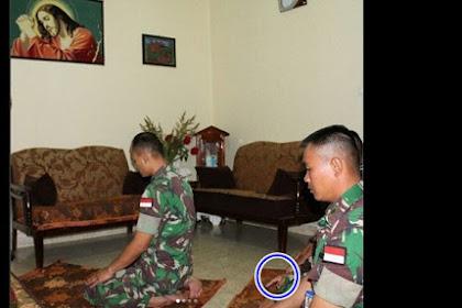 Heboh di Internet ! Prajurit TNI Shalat di Depan Gambar Yesus, Tak disangka ternyata begini Ceritanya