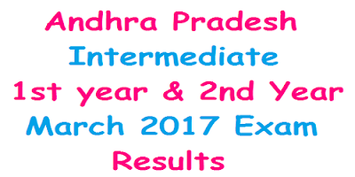AP Inter 1st & 2nd year Exam results 2017