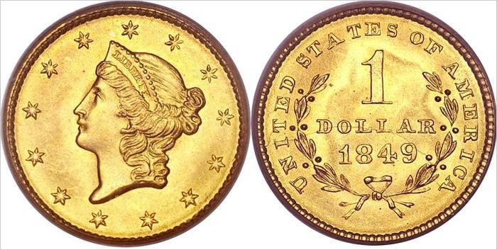 Золотые американские доллары – Liberty Head