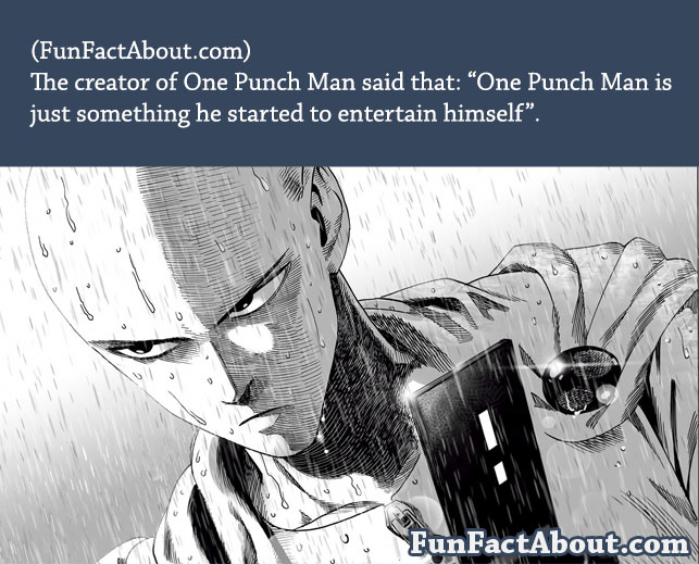 vin anime: One punch man Fun fact - vin anime