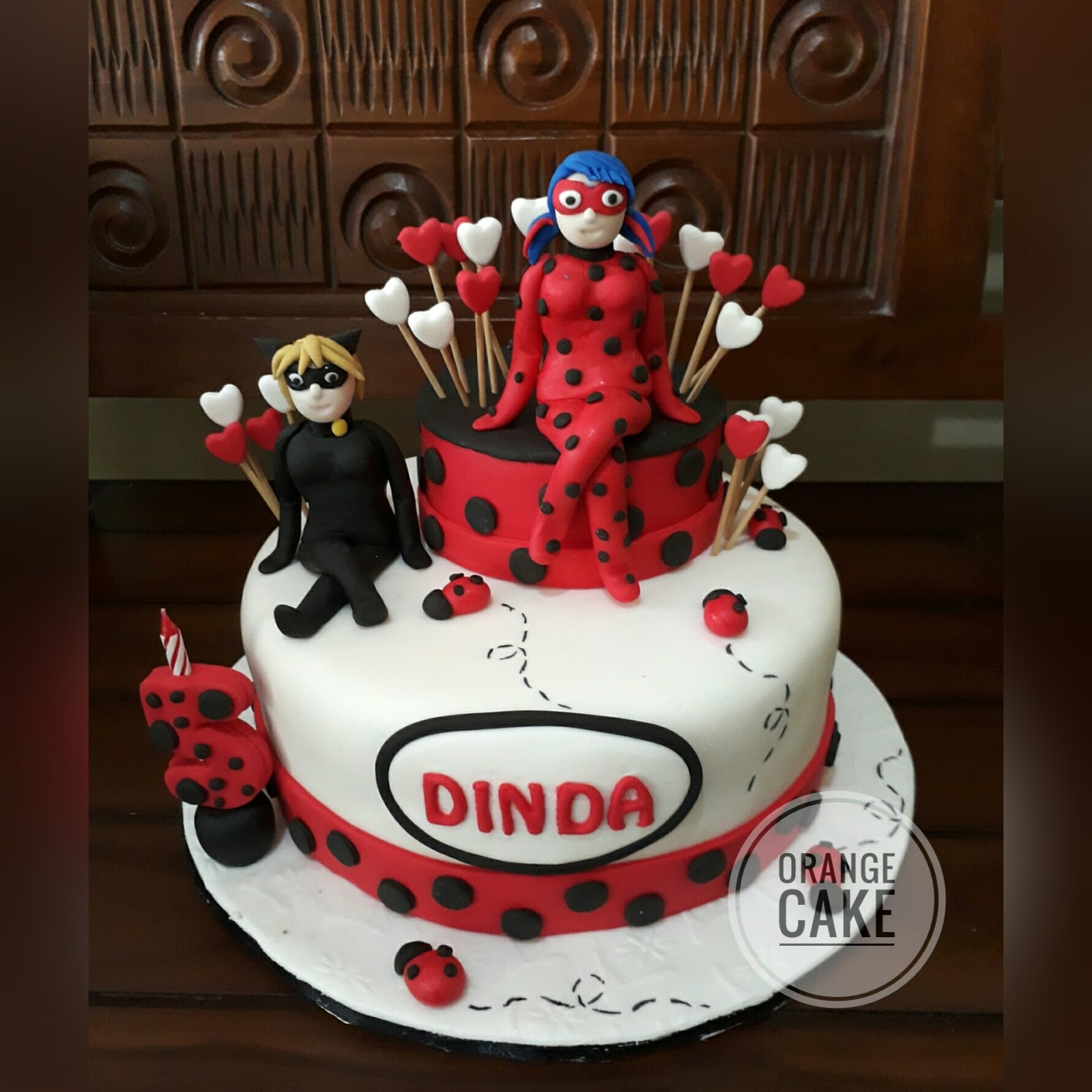 orange cake miraculous ladybug birthday cake for dinda