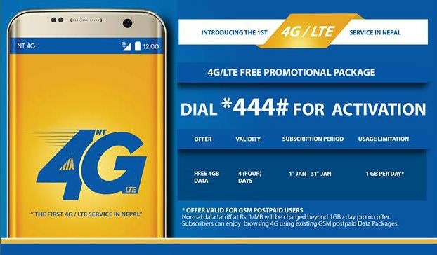 activate 4G in NTC