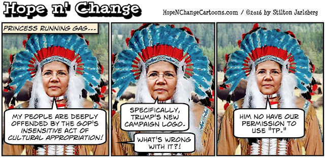 obama, obama jokes, political, humor, cartoon, conservative, hope n' change, hope and change, stilton jarlsberg, elizabeth warren, indian, native american, tepee, tp, trump, pence