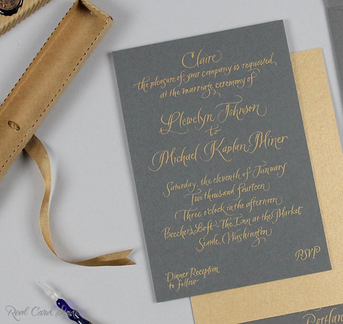 Real Card Studio Hand Written Invitations for an Intimate Seattle