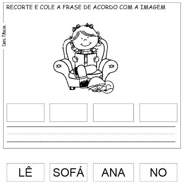 Atividades para Imprimir - Forme Frases