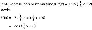 Contoh soal turunan fungsi trigonometri