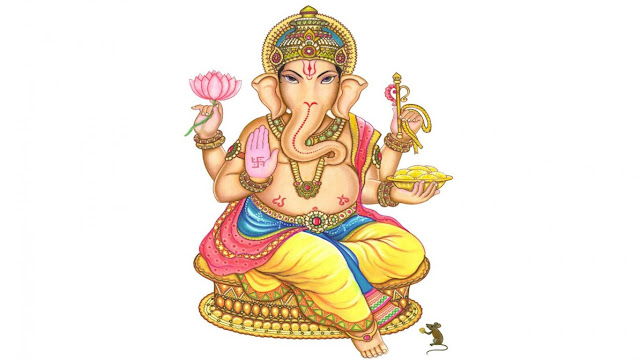 Ganesh Bhagwan Wallpaper In Withe Background