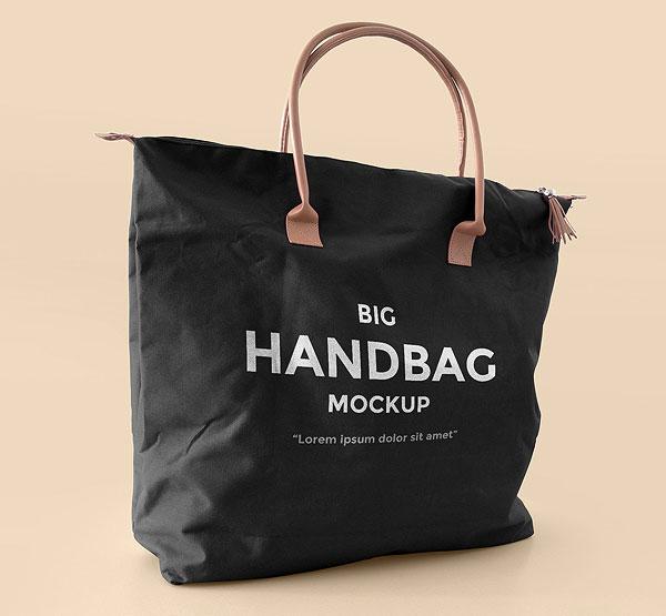 Big Handbag Mockup PSD